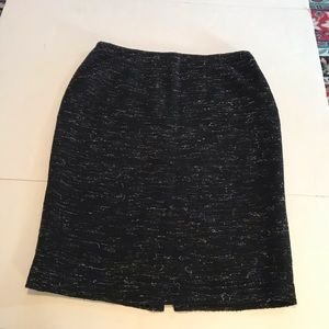 Lafayette 148 Womens Textured Boucle Knit Skirt
